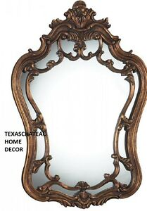 Old World French Ornate Arched Antique Bronze Gold Wall Mirror Bathroom Vanity Ebay