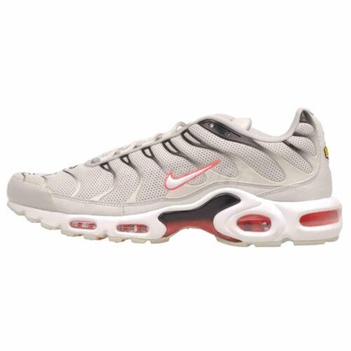 Mens Nike Air Max Plus Trainers Running Shoes Light Bone Black White 852630 030