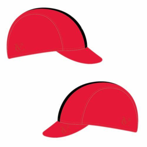 VELOCHAMPION Cyclisme Tech Cap-Rouge avec bande noire