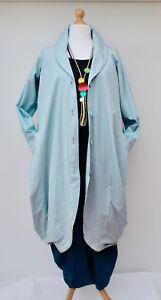 bébé bleu 54 kekoo coton 100 Lagenlook veste surdimensionnés manteau buste et jusqu'à H8BcPPqn6R