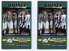 2012 MLS Rochester Rhinos pocket schedules 2 two