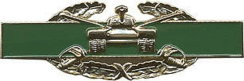 ARMY  COMBAT ARMOR   GOLD 3 INCH  MILITARY BADGE PIN