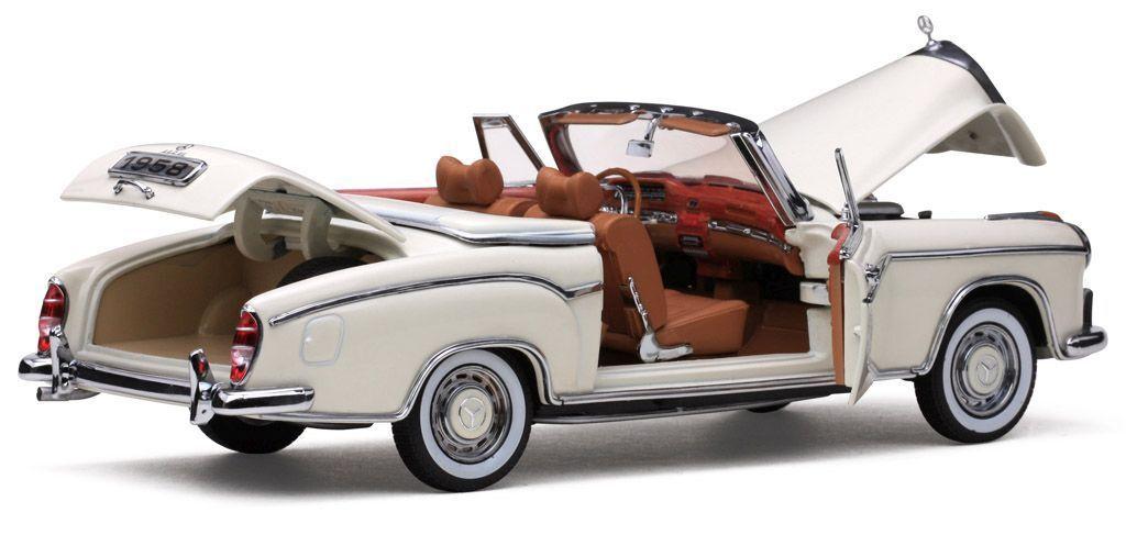1958 Mercedes -Benz 220SE vit 1 18 Sunstjärna 3555