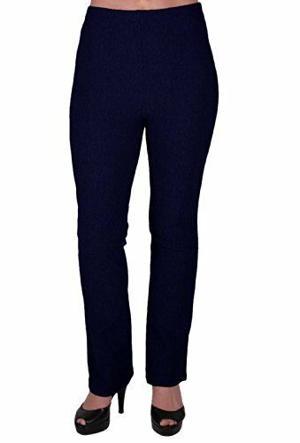 Womens Casual Pull On Skinny Fit Long Ribbed Stretch Elasticated Pants Trousers