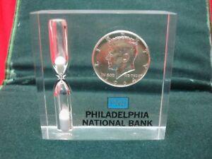 PHILADELPHIA-NATIONAL-BANK-CUSTOMER-GIVEAWAY-SILVER-KENNEDY-HALF-amp-EGG-TIMER
