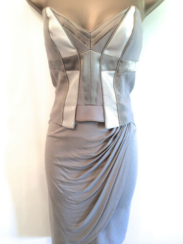 Femme Karen Millen Corset Jersey Drapé Robe Soirée Cocktail Femmes UK SZ vente