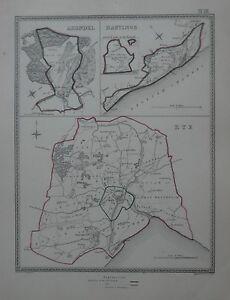 Original-1835-Borough-Parish-Road-Map-RYE-HASTINGS-ARUNDEL-Sussex-England-Farms