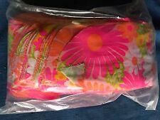 Vintage Mod Day Glow Fluorescent Hippy Flower Power Retro Fabric Strip Craft Lot