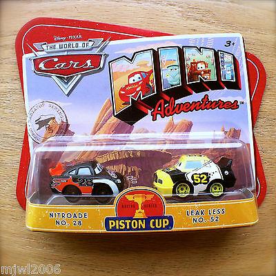 Disney Pixar Cars Mini Adventures Piston Cup Nitroade No 28 Leak Less No 52 Ebay