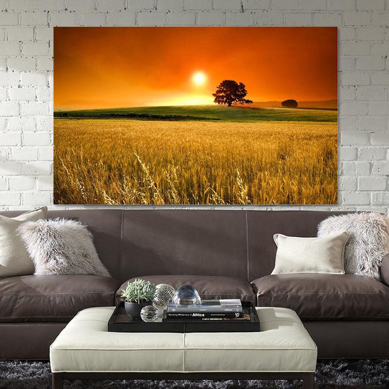 3D Weizen, Himmel Fototapeten Wandbild Fototapete BildTapete Familie AJSTORE DE