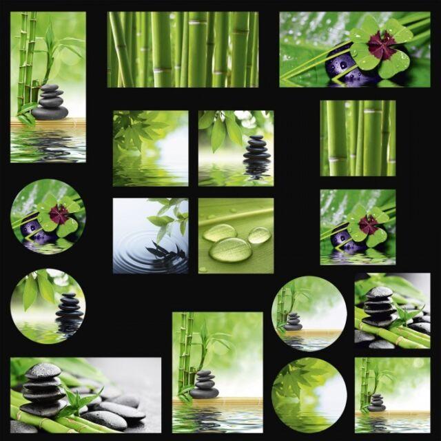 Glasbilder - deco glass Float Glas by Artland Naturmotive Blätter Tropfen Zen