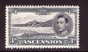 British Colonies & Territories Dynamic Ascension George Vi 3d Blk And Grey Single Sg42a Multi-colour L/ Hinged Drip-Dry Ascension Island