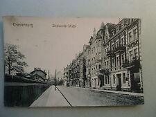 Ansichtskarte Oranienburg Stralsunder Straße  Brandenburg Straßenzug 1917 Stempe