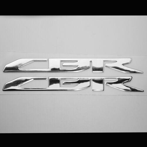 3D LOGO+LETTER FAIRING//FENDER EMBLEM DECAL STICKER FOR CBR 600//900//1000 CHROME