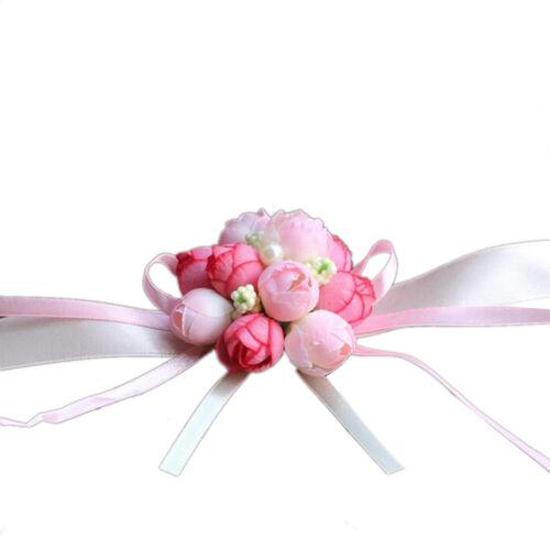 Handgelenk Corsage Armband Brautjungfer Schwestern Hand Blumen Hochzeit PaBZP JS