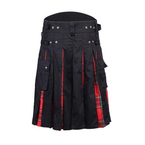 New Men/'s 5 Yard Scottish Kilts Tartan Kilt 13oz Highland Casual Kilt US SELLER