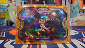 Lebron James 2020-21 Panini Prizm Basketball Orange Cracked Ice #1🔥