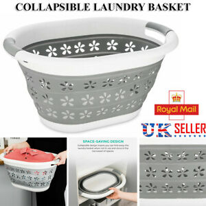 Large Space Saving Collapsible Laundry Basket Folding Cloth Washing Pop Up Bin