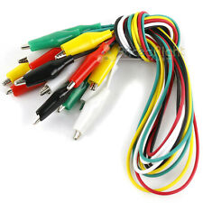 10 Alligator Test Leads Electrical Jumper Clips 15 Double Ended Cable Wire