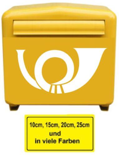 Posthorn Aufkleber Briefkasten Aufkleber Postkasten Aufkleber  177