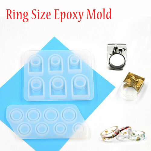 DIY Silicone Assorted Ring Size Epoxy Mold Mould for Resin Jewelry Making Craft