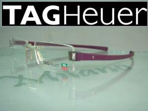 b650b96dc0 Tag Heuer Track TH 7103 015 Pure Purple Rimless Eyeglasses Frames ...