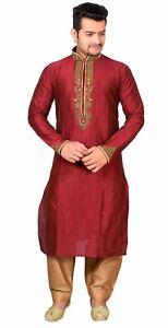Pz Uomo Tema Sherwani 2 Costume Di Kurta Pigiama Party Kameez Bollywood Salwar vROqvp