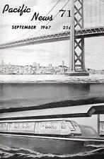 Pacific News 7 September 1967 BART Bay Area Rapid Transit San Francisco