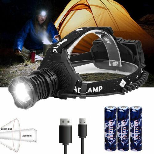 Zoom Powerful XHP70 Headlight USB Headlamp Hiking Head Torch Flashlight 18650
