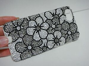 321fe20141 iPhone XR Bling Case Handmade with Swarovski Crystals Silver Flower ...