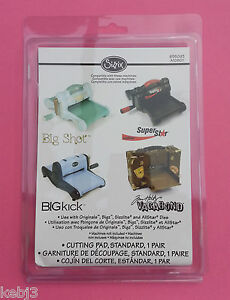 Sizzix-BigShot-Bigkick-1-Pair-CUTTING-PAD-655093-BNIP