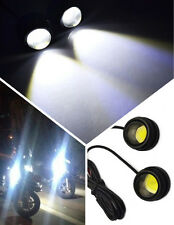 2x High Bright White LED 12V Motorcycle Fog Tail Stop Light Lamp For Suzuki Moto