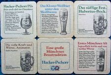 Bierdeckel Serie Hacker Pschorr München Bayern - Biersorten - 1980 komplett 90mm