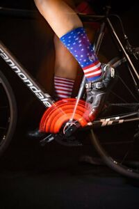"""Solo Warrior """"USA"""" 6"""" Men's Cycling Socks, Athletic Socks with Light Compression"""