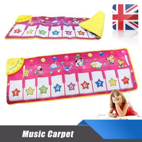 Kids Toy Play Mat Animal Carpet Baby Piano Keyboard Singing Music Musical Gift