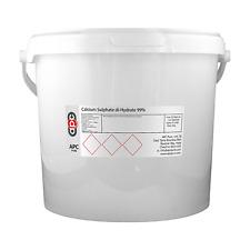 Solfato di calcio diidrato 99% (GESSO) - 5KG * Home DELLA BIRRA *