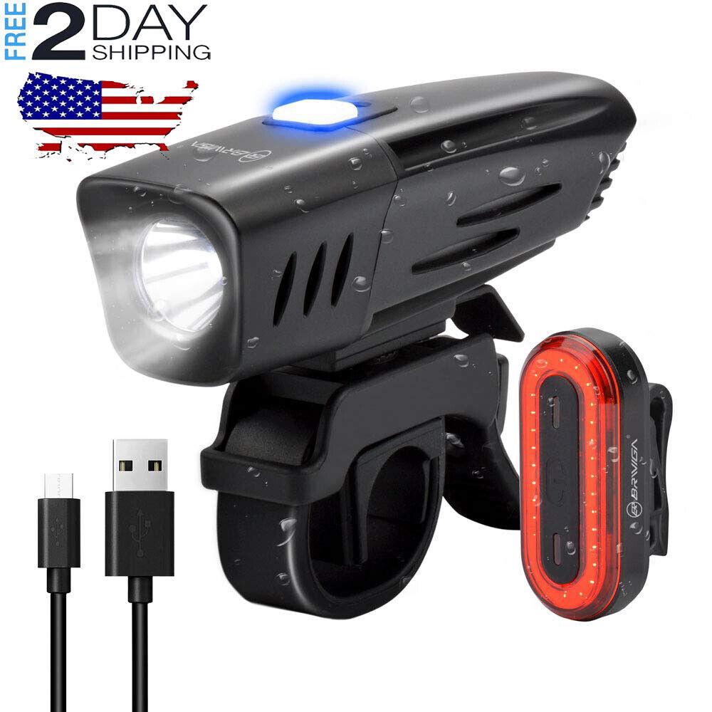 Luces de LED para bicicletas accesorios bicicletas USB recargable impermeable-US   the latest models