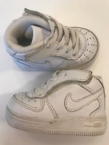 low cost online here sneakers for cheap Details about Unisex Nike Infant Toddler Air Force, 314565 113 White High  Top Size 2C