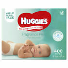Huggies Fragrance Free Baby Wipes Refill 400 Pieces