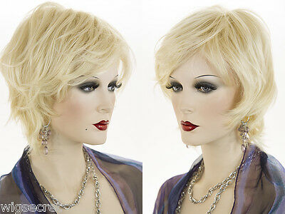 Short Youthful Layered Blonde Brunette Red Straight Wigs