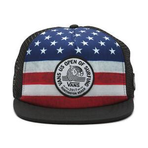 Vans 2017 US OPEN of SURFING Trucker Hat (NEW) Stars Stripes USA ... 50651c0d7f8