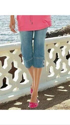 top trendy APART Caprihose 3//4 Capri Jeans Hose NEU hellblau