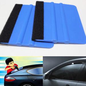 1-Blue-Plastic-Felt-Edge-Squeegee-Car-Vinyl-Wrap-Application-Tool-Scraper-Decal