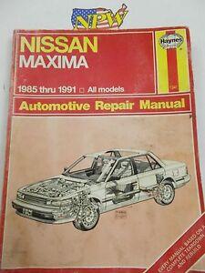 haynes nissan maxima 1985 1991 service repair automotive manual rh ebay com 1992 Nissan Maxima 1996 Nissan Maxima
