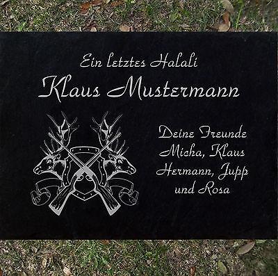 Motiv◄ 20x15 cm Grabstein GRABPLATTE Grabmal Ähren 01►Gravur mit Inschrift