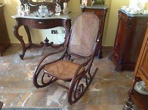 Sedie A Dondolo Depoca : Thonet sedia a dondolo fine legno curvato paglia