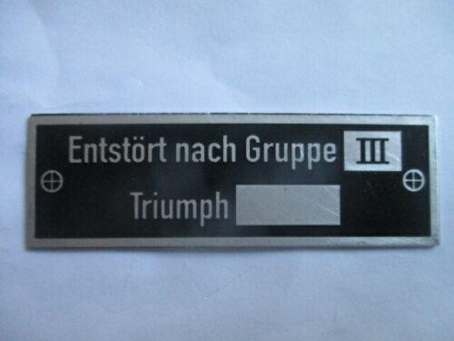 Placa de identificación escudo triunfo tras kiloohmios grupo III Wehrmacht TWN WW II 2 WK s54