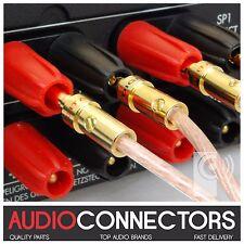 8 x Hi-Fi 4mm BFA-Z Banana Plug Amplifier cable connectors (BZ1) - THAT'S AUDIO