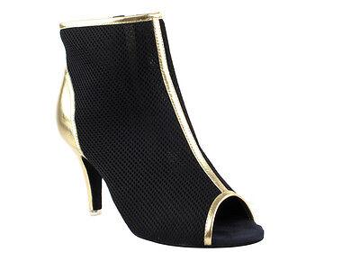 Latin Salsa Very Fine Ballroom Boot Dance Shoes CD3028 Black Blue Grey Purple