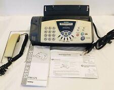 Brother Fax 575 Personal Plain Paper Fax Phone Copier For Parts See Description